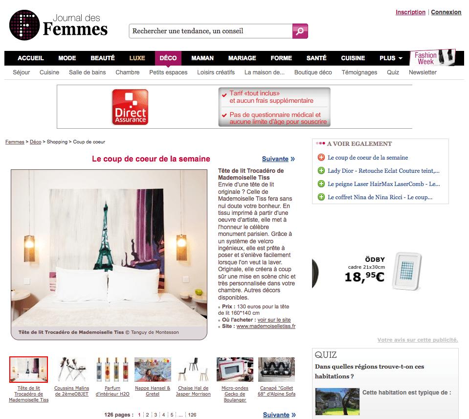le journal des femmes f vrier 2011. Black Bedroom Furniture Sets. Home Design Ideas