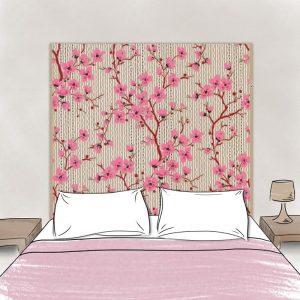 tete de lit cerisiers 160*140 cm dessin